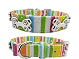 Schutzkragen Haustier-Hundewelpen-bunte Segeltuch-Knochen-Kristallhalsband-justierbare Schnalle-Umhängeband-Kragen-Krawatten-Halskette Smart Collar