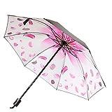 Shuda Faltbarer Reise-Regenschirm, UV-Schutz, Sonnenschirm, leicht, Winddicht, wasserdicht, zum Herausnehmen, kompakter Regenschirm, einfach zu tragen, Weiß, weiß, 26 cm