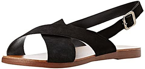 New Look Women's Wide Foot Freeda Ankle Strap Sandals, Black (Black), 3 UK 36 EU