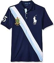 POLO RALPH LAUREN Men's Custom Slim Fit Polo Shirt, Multicolo