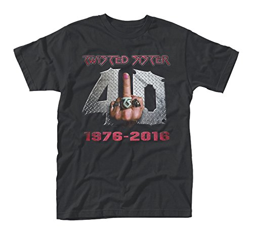 Twisted Sister 40 And Fuck It T-Shirt nero XXL