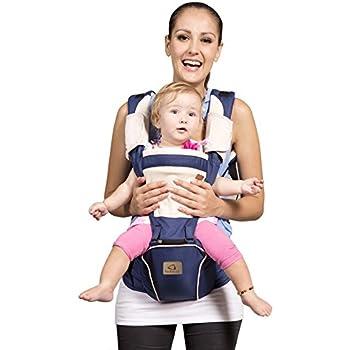 961ded127f7 Bebamour Hipseat Baby Carrier Backpack 5 in 1 Carry Ways Carrier Sling  (Dark Blue)