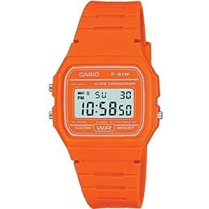 Casio - F-91WC-4A2EF - Montre Homme - Quartz - Bracelet orange