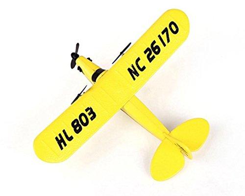 Hunpta HL-803 RC Fernbedienung Hubschrauber Flugzeug Segelflugzeug Flugzeug EPP Schaum 2CH 2,4 G Spielzeug (Gelb) -