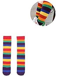 Good partner regenbogen socken stulpen kinder stulpen regenbogen aus 95% Baumwolle, weich und bequem,warm zu halten