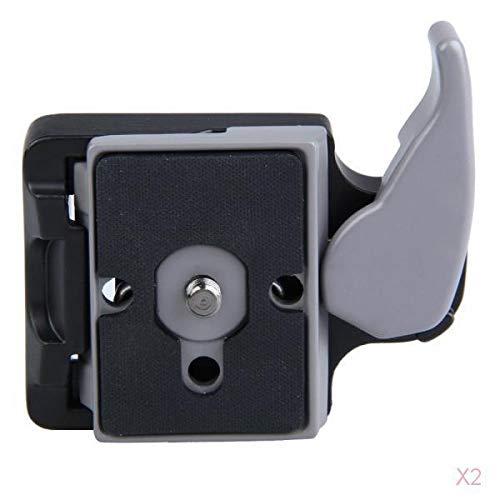 H HILABEE 2pcs Rápida Liberación Rápida Conectar Adaptador Compatible Manfrotto 200pl-14 Placa