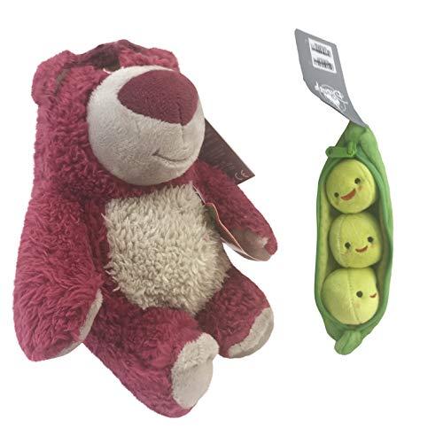 (Preis Spielzeug Buzz Lightyear, Woody und Jessie Weiches Spielzeug-Puppe Set-Disney Toy Story Mini Bohne Sammlung (Lotso/Erbsen))