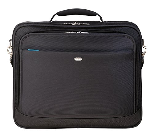 Pierre by ELBA 100402200 Laptoptasche für Notebooks bis 16 Zoll Original Line mit Zubehör-Fach, grauem Innenfutter und Trolley-Lasche, Schwarz