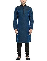 Manyavar Men's Full Sleeve Blended Kurta & Churidar Set (S952512)