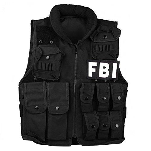 UniqueBella Tactical Vest for Nerf Guns N-Strike Elite Battle Outdoor Adjustable Training Assault Vest with Patch for Kids Adults 600D Encryption Polyester