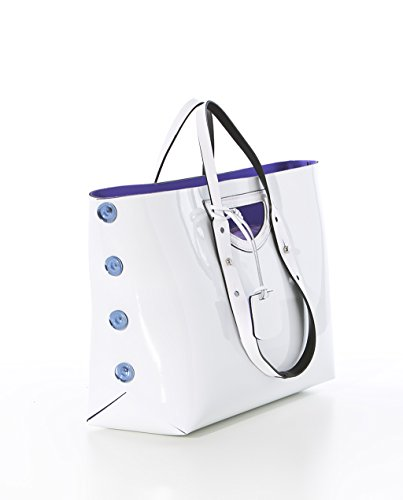 TWIST BAG HPO - Shopping Bag L reversibile Made in Italy bianco / viola
