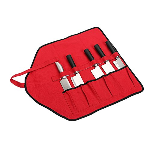 Professional Chef Messer Fall Rolle Tasche 6Slots tragbar Messer, der Fall Werkzeug Taschen Wasserdicht Langlebig Perfekte Geschenke für Mutter/Frau Frauen db0003 26.8