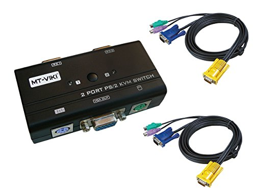 Gehäuse-Teile Tastatur, Maus, Display (KVM Switch) - 4 Ports - Handbuch - PS2 + VGA - mit Kordeln