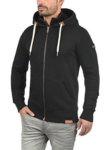 SOLID Trip-Zip Herren Sweatjacke Kapuzen-Jacke Zip-Hoodie mit optionalem Teddy-Futter aus hochwertiger Baumwollmischung Black (9000)