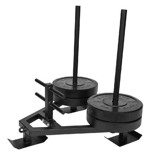Bad Company Power Gym Sled inkl. Zug-Geschirr I Sprint und Gewichts-Schlitten für Ausdauer- und Schnelligkeitstraining
