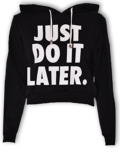 Lollipop Just Do It Clothing successivamente coltura, corto, Felpa con cappuccio da felpa