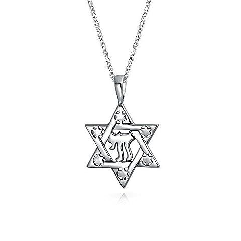 Bling Jewelry pendentif en argent étoile de David Pendentif Symbole