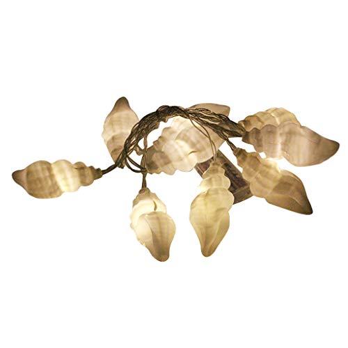 Kreative Spaßseeshell Lampe Batteriebetriebene Partei Beleuchtet Led Laternen Schnur Dekoration Hängen (Weiß) -
