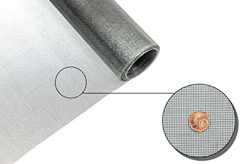 Fliegengitter Gewebe ClearAdvantage Insektenschutzgewebe für Fenster und Türen Meterware 100 cm breit schwarz Grundpreis/m² 5,92 Euro