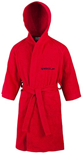Französisch Kostüm Jungen - Speedo Unisex-Kinder Microterry Bademantel, Rot (Red), Gr. 14 Jahre