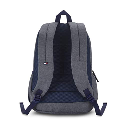 Best tommy hilfiger backpack in India 2020 Tommy Hilfiger Xylo 30 Ltrs Grey Laptop Backpack (TH/XYLOLAP07) Image 3