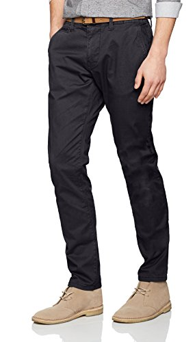 TOM TAILOR Herren Hose Travis Casual Chino w/ Belt, Blau (lunar eclipse 6911), 34/36
