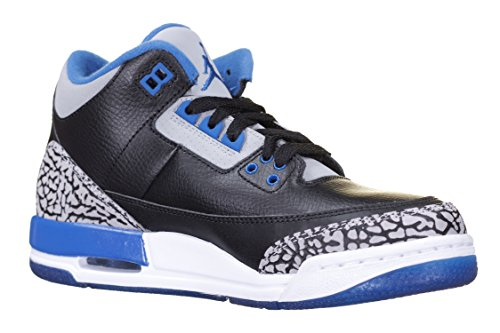 nike-jungen-air-jordan-3-retro-bg-turnschuhe-schwarz-blau-grau-schwarz-sport-blau-grauer-wolf-38-eu