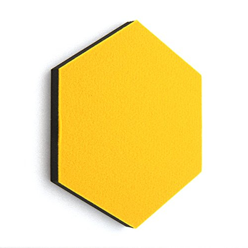 Super leicht Sandwich Filz Board Sechseck Typ Memo Board (14colour Option) (Yellow)