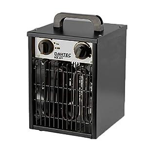 DAHTEC – H3.521 – Calefactor Ventilador eléctrico 3kW 3000 Watt – 3 Funciones Ajustables, termostato Ajustable, 230 V – para casa, Taller, Camping, Garaje, jardín