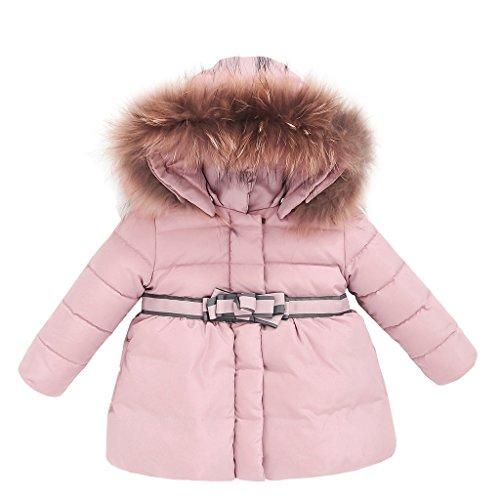 Chaqueta de Pluma para Niñas Abrigos con Capucha Chaquetas de Invierno Trajes de invierno, Rosa 3-4 Años