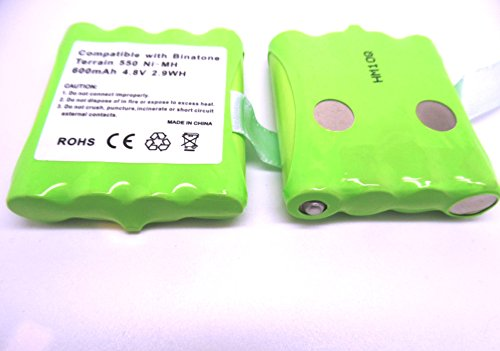 2x Binatone Terrain 550oder 750Walkie Talkie Two Way Radio Kompatibel Akku Pack (nicht geeignet für 650) 2 X Akku-pack