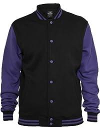 Urban Classics Herren Jacke Bekleidung 2 Tone College Sweatjacket