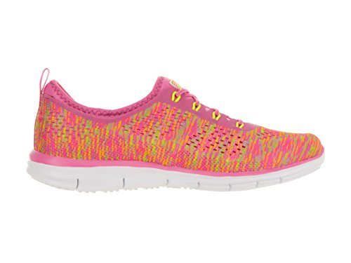 Skechers Glider Fearless, Sneakers basses femme Neon Pink/Yellow