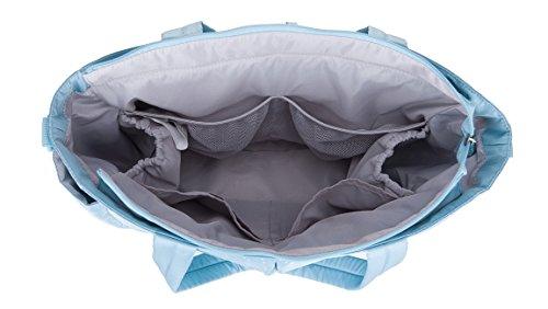 Bellotte Wickeltasche Baby Tasch Einkaufstasche-Wickelauflage-Kinderwagen Blau