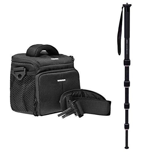 fz300 buch Kamera Foto Tasche Action Black Set mit professionellem Einbeinstativ Carbon
