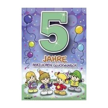 Geburtstag 7 Jahre Junge : archie geburtstagskarte zum 5 geburtstag junge gr n gl ckwunschkarte kinder ~ Whattoseeinmadrid.com Haus und Dekorationen