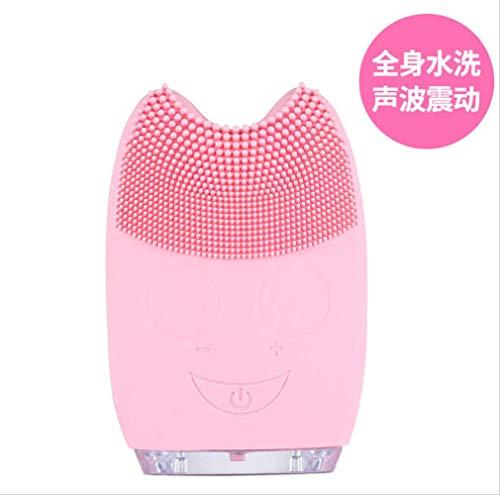 Mini Cleanser Aufladen Ultrasonic Electric Cleanser Gesichtsreinigung Silikon-felsbürste Gesicht...