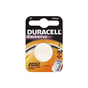 One (1) X Duracell CR2032 Lithium Coin Cell Battery 3v Blister Packed