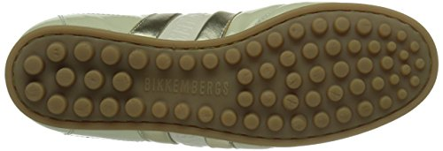 Bikkembergs 641025, Baskets Basses mixte adulte Blanc - Weiß (weiß/gold)