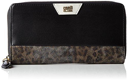 roberto-cavalli-class-signature-collection-porte-monnaie-cuir-19-cm-black-offwhite