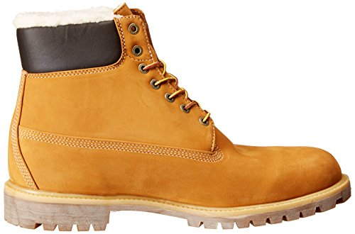 Timberland 6 In Fur Warm Wheat Nubuck Warm Lined CA13GA, Boots Braun