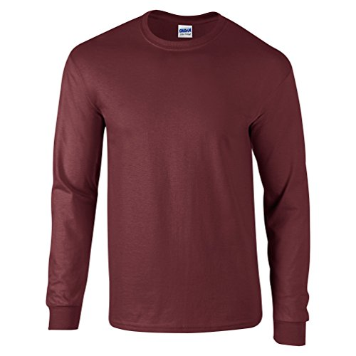 Ultra Cotton Classic Fit Adult T-Shirt - Farbe: Maroon - Größe: S (Fruit Loom Hanes)