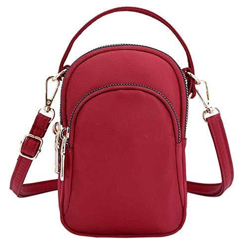 Godatila Damenmode Nylon Headset Tasche Umhängetaschen Leichte Kettentasche Wilde Umhängetasche Plüsch Rucksack Umhängetasche - Canvas Long Strap Handtasche