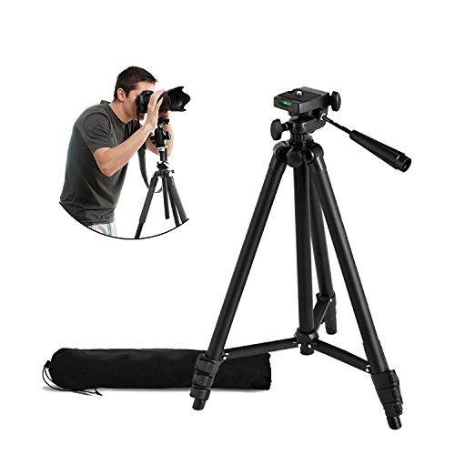 Y&M(TM) Kamera-Dreibeinstativ, leicht, universal, tragbar, klein, Aluminiumlegierung, mit Tragetasche, für digitale DSLR-Kameras & Videorecorder