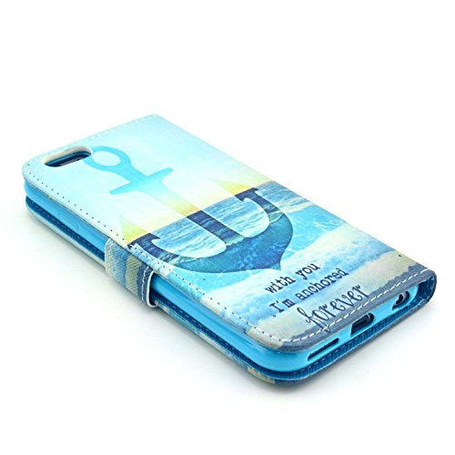 "MOONCASE iPhone 6 Case Motif Conception Coque en Cuir Portefeuille Housse de Protection Étui à rabat Case pour iPhone 6 (4.7"") P56"