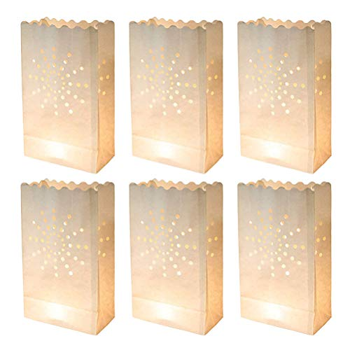 10pcs Sun Candle Paper Bag Lantern Paralume Wedding Path Decor Accessorio di compleanno