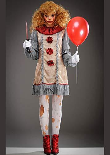 New Pennywise Grey It Clown Stil Kostüm Medium (UK 12-14) ()