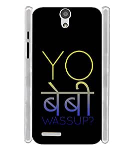 Yo Baby Wassup Hindi Hinglish Soft Silicon Rubberized Back Case Cover for InFocus M260