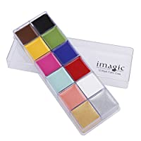 Yuyte 12 Colors Body and Face Paints, Body Paint, Halloween Makeup Carnival Set (# 2)