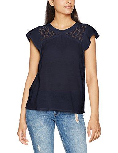 Vero Moda Vmpingo Capsleeve Top A, T-Shirt Femme Bleu (Navy Blazer)
